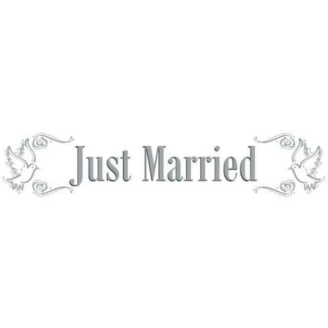Just Married Dekorációs Kordonszalag Esküvőre - 15 m
