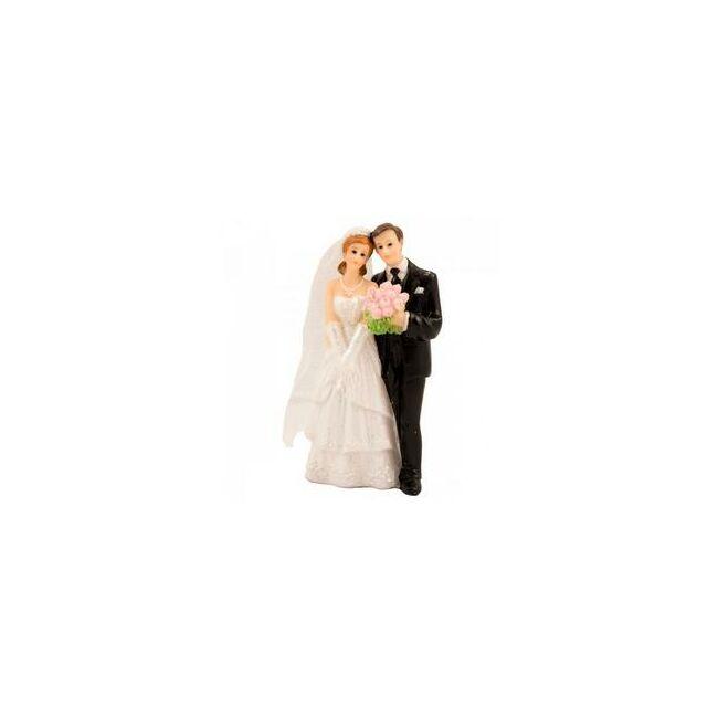 Esküvői Tortadísz - Klasszikus Ifjú Pár