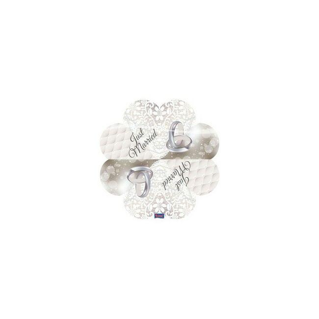Szív Alakú Esküvői Szalvéta - 20 db-os