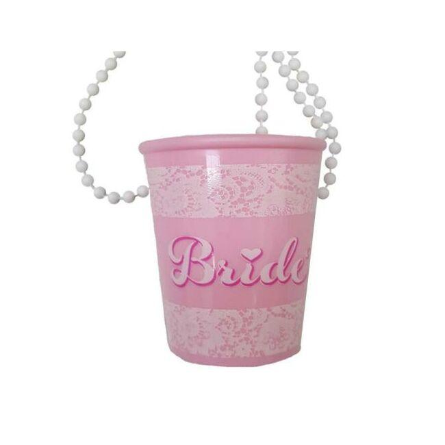 Bride Feliratú Nyakba Akasztható Pohár Lánybúcsúra