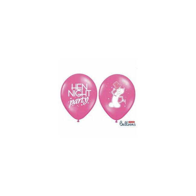 11 inch-es Hen Night Party Feliratú Pink Lufi Lánybúcsúra