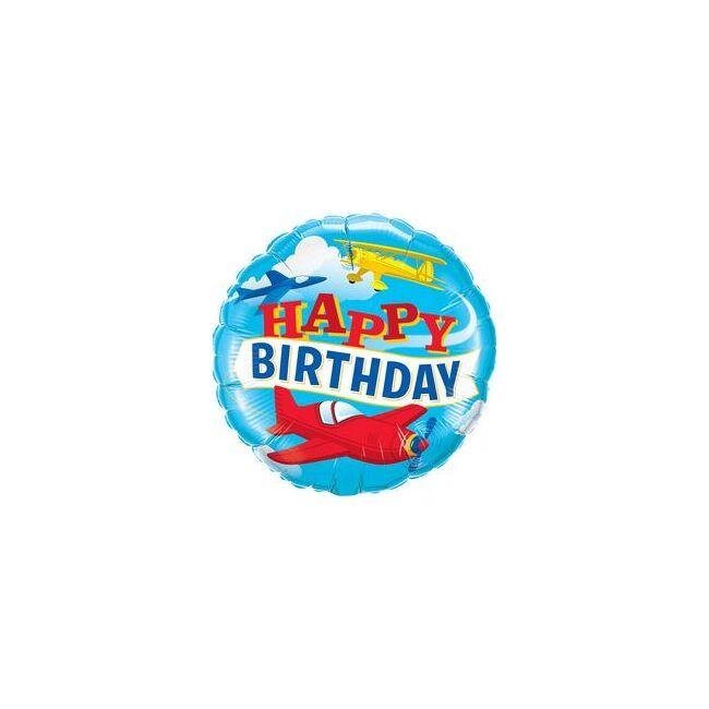 18 inch-es Birthday Airplanes Szülinapi Fólia Lufi