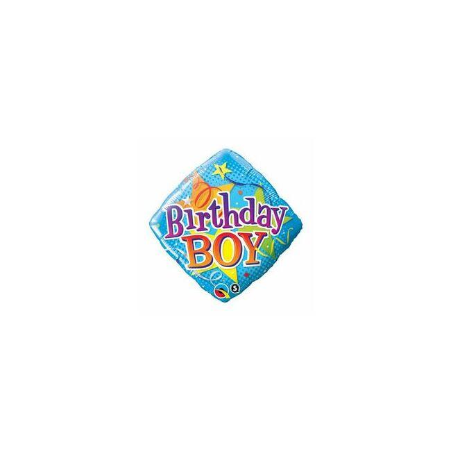 18 inch-es Birthday Boy Szülinapi Fólia Lufi