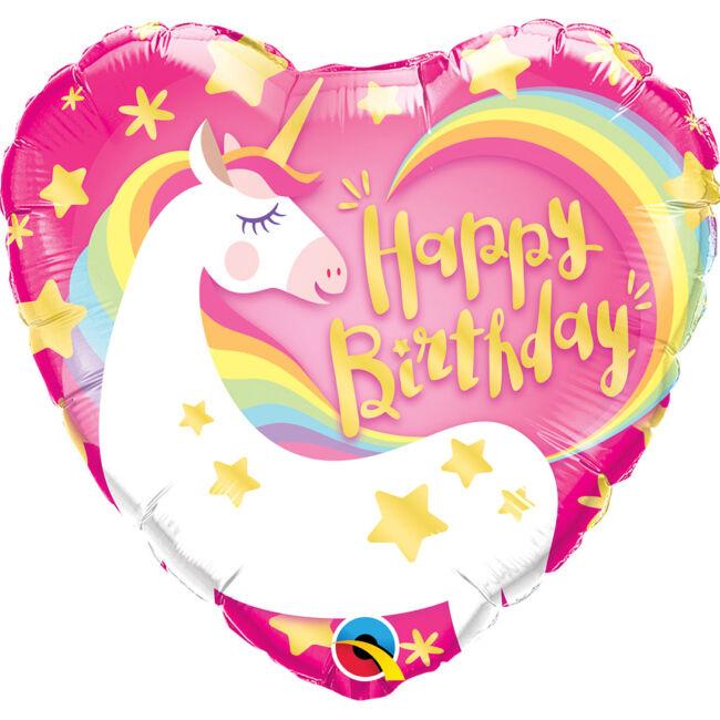 18 inch-es Birthday Magical Unicorn Fólia Lufi