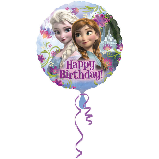 18 inch-es Happy Birthday Jégvarázs - Disney Frozen - Szülinapi Fólia Lufi