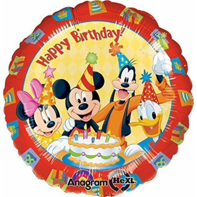 18 inch-es Mickey & Friends Happy Birthday - Mikiegeres Szülinapi Fólia Lufi