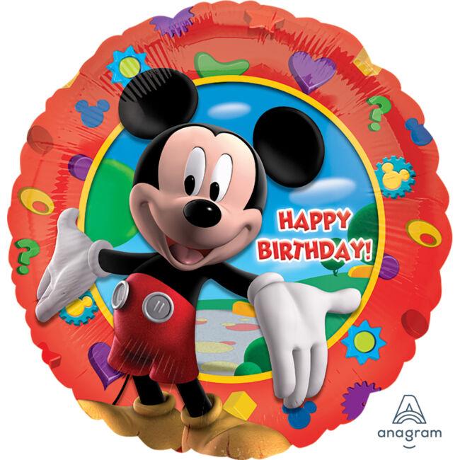 18 inch-es Mikiegér - Happy Birthday Mickey's Clubhouse - Fólia Lufi