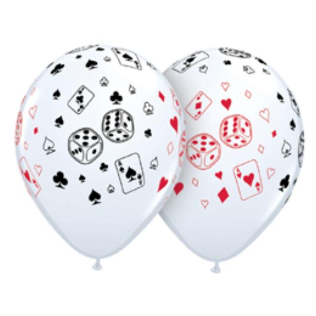 11 inch-es Casino - Cards és Dice - Lufi
