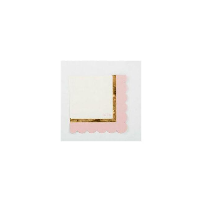 Pink 1st Birthday - Első Szülinapi Parti Szalvéta - 33 cm x 33 cm, 16 db-os