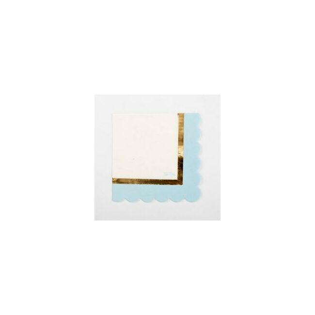 Kék 1st Birthday - Első Szülinapi Parti Szalvéta - 33 cm x 33 cm, 16 db-os
