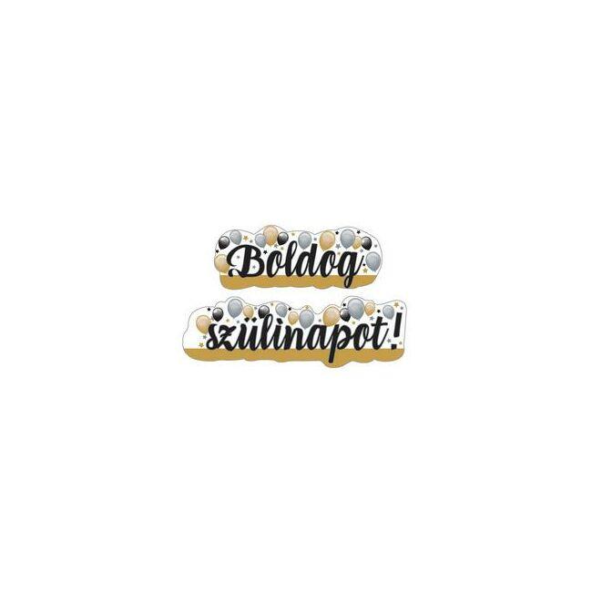 Boldog Szülinapot! Elegáns Léggömbös Banner - 148 cm x 27 cm
