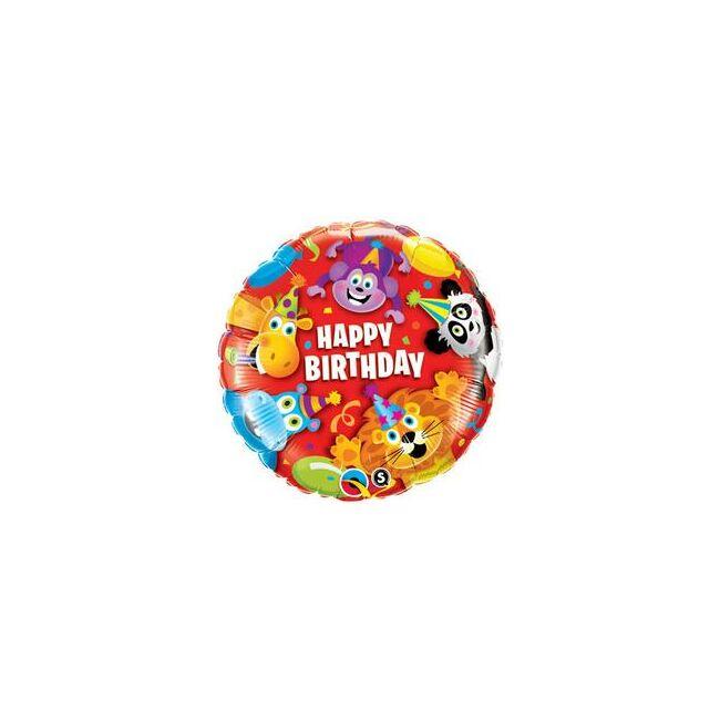 18 inch-es Birthday Party Animals Szülinapi Fólia Lufi