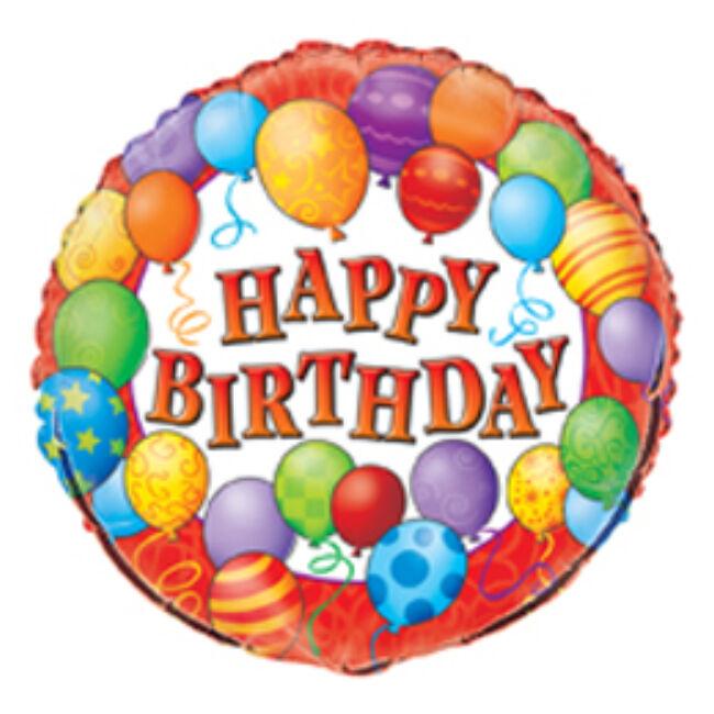 18 inch-es Birthday Balloons - Léggömbös Szülinapi Fólia Lufi