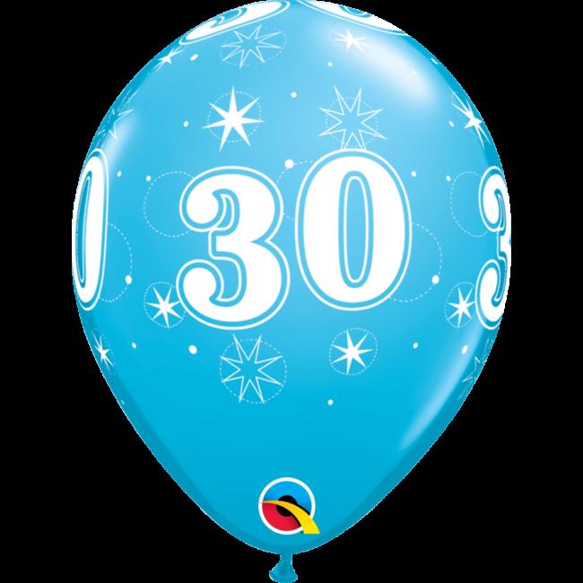 30cm születésnapi léggömb kék