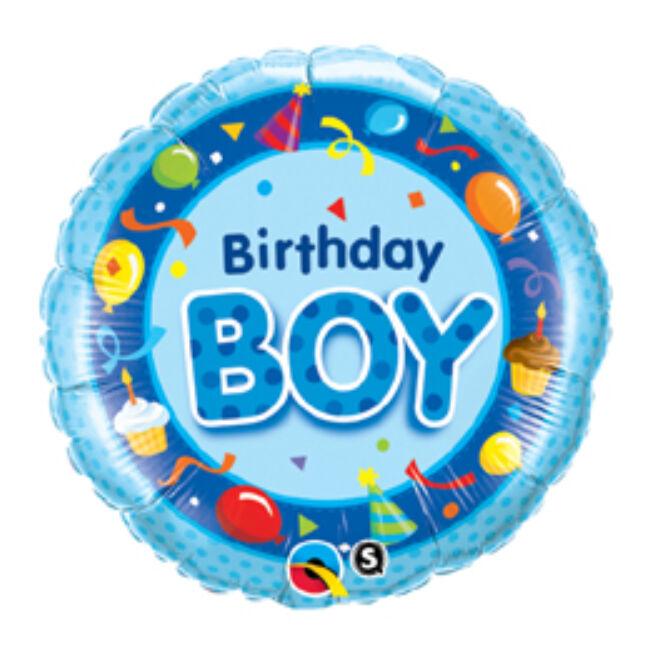 18 inch-es Szülinapos Fiú Kék - Birthday Boy Blue Szülinapi Fólia Lufi