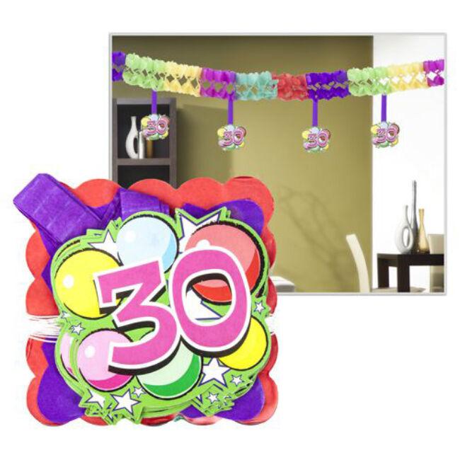 Számos girland 30. születésnapra 400x12x12cm