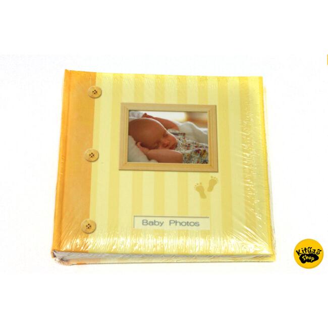 Babás fényképalbum 200db 10x15cm KM-150 sárga