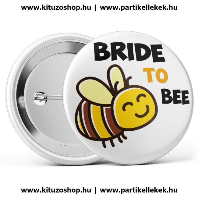 Bride To Bee méhecskés lánybúcsú kitűző