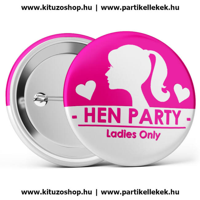 Hen Party Ladies Only II. lánybúcsú kitűző