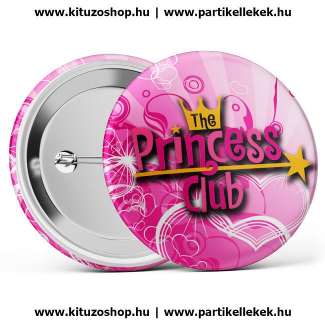 Princess club lánybúcsú kitűző