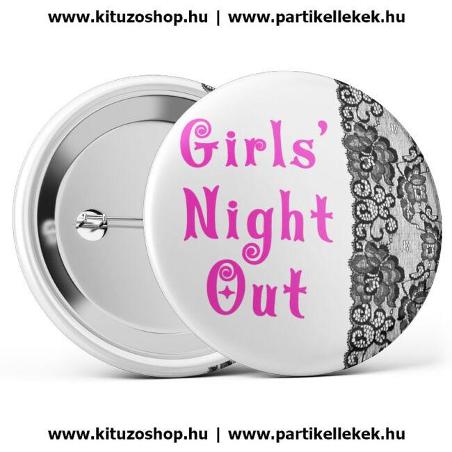 Csipkés, Girls Night Out lánybúcsú kitűző
