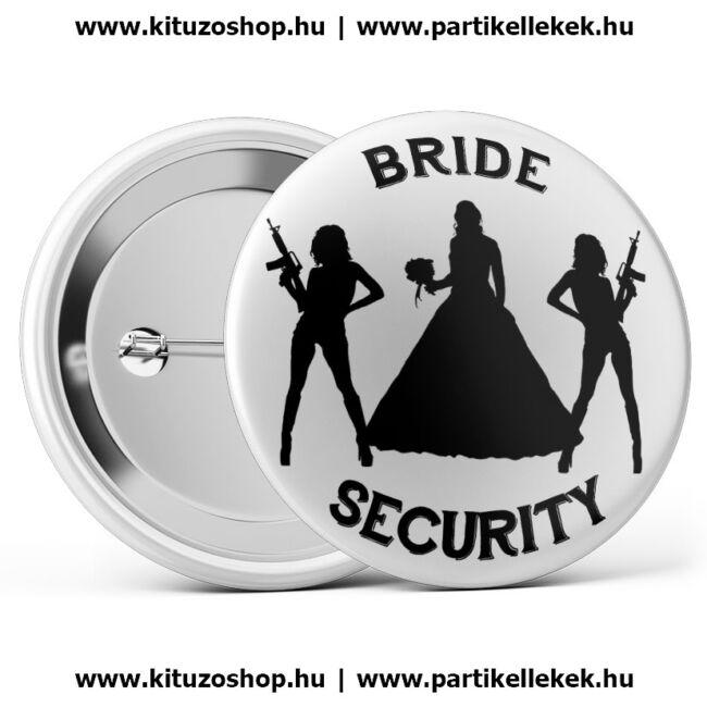 Bride security lánybúcsú kitűző