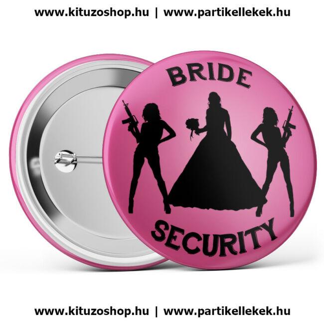 Bride Security kitűző rózsaszín