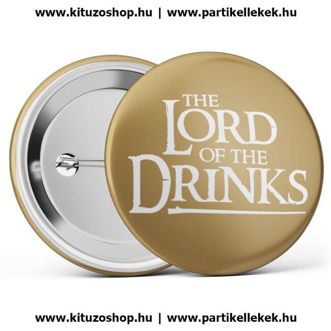 The Lord Of The Drinks kitűző legénybúcsúra vagy lánybúcsúra barna színben