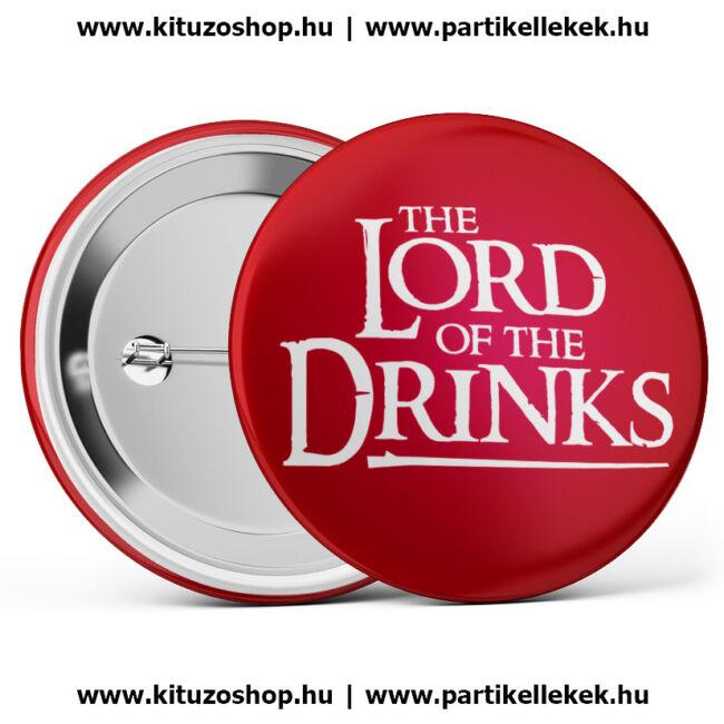 The Lord Of The Drinks kitűző legénybúcsúra és lánybúcsúra fehér színben