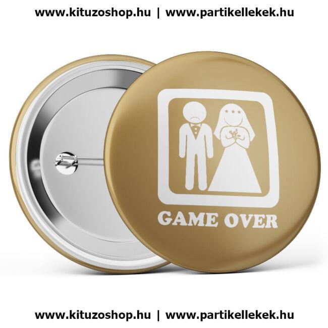 Game over kitűző lánybúcsúra és legénybúcsúra
