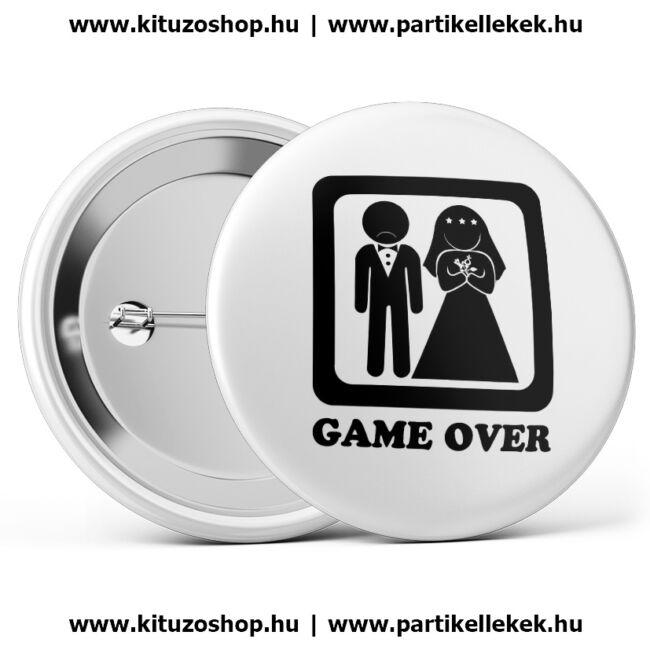 Game over kitűző lánybúcsúra vagy legénybúcsúra