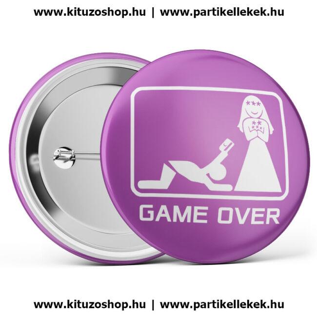 Game Over kitűző II. lila