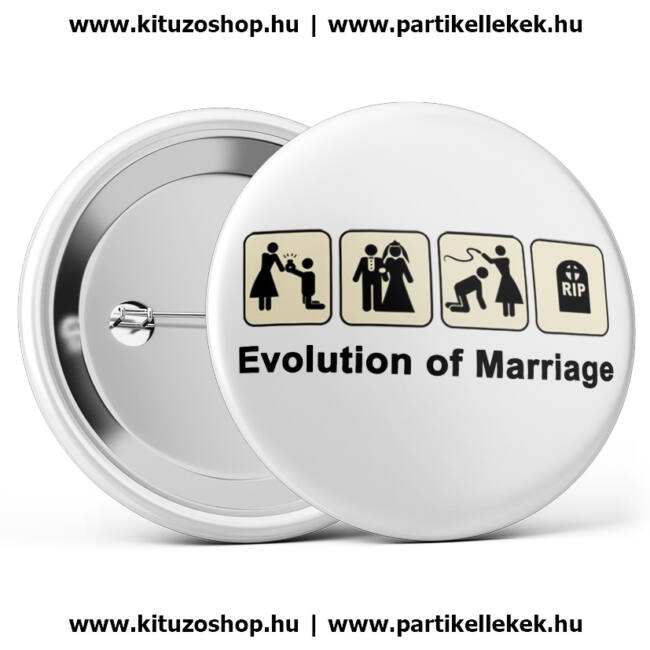 Evolution of marriage legénybúcsú kitűző