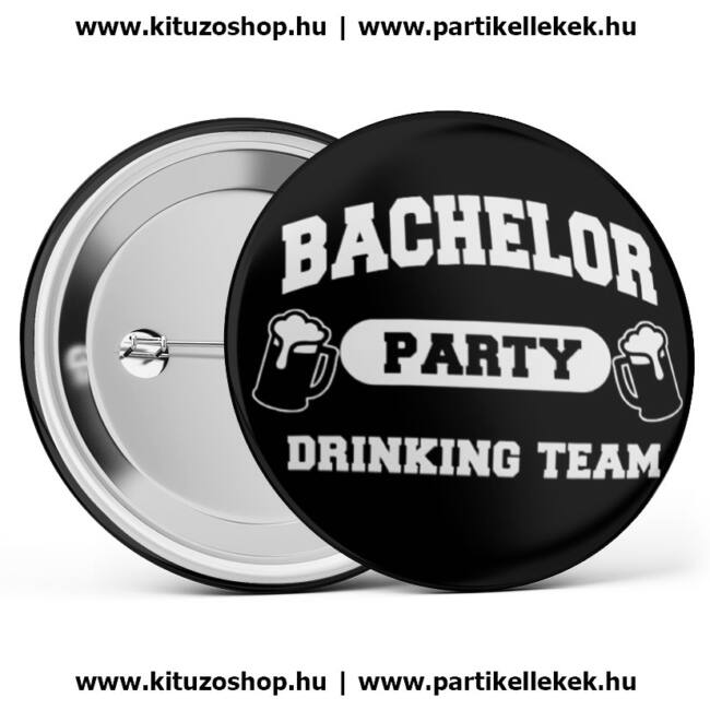 Legénybúcsú kitűző, bachelor party drinking team