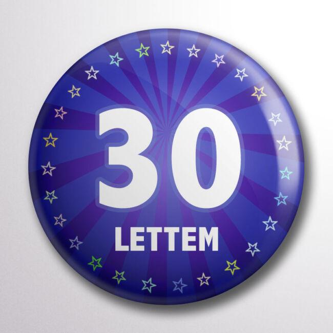 Kitűző 30. születésnapra kék színben