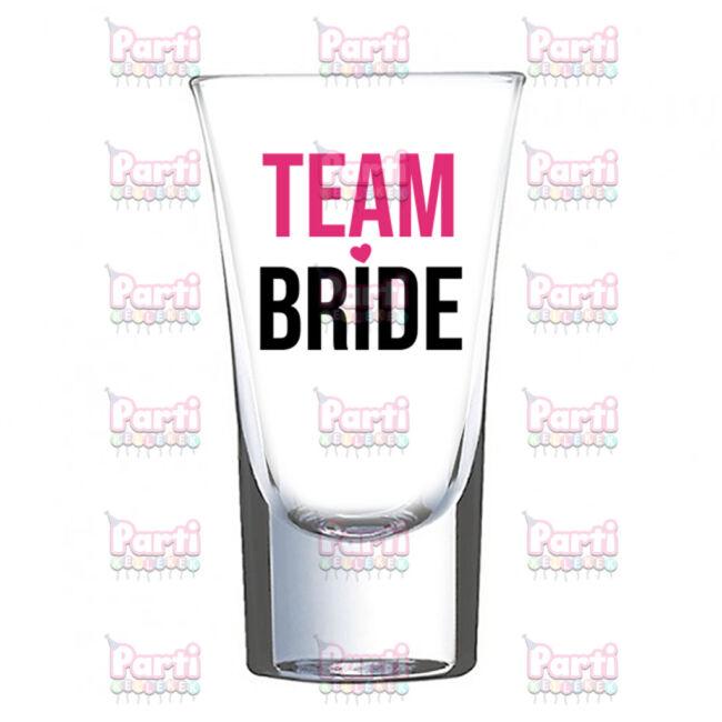 Team Bride lánybúcsú felespohár