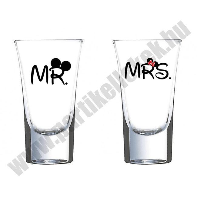 Mr és Mrs páros felespohár 1.
