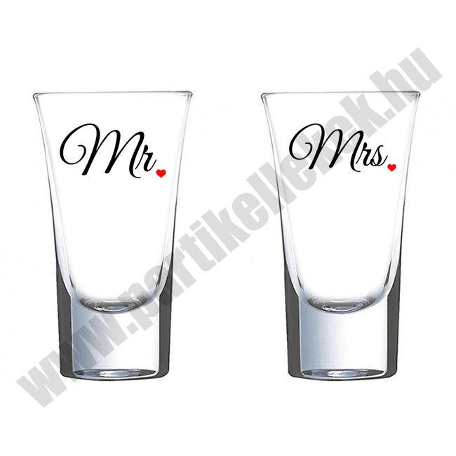 Mr és Mrs páros felespohár 2