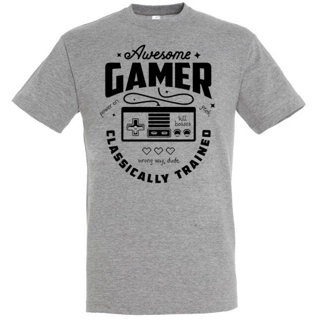 Awesome gamer póló több színben