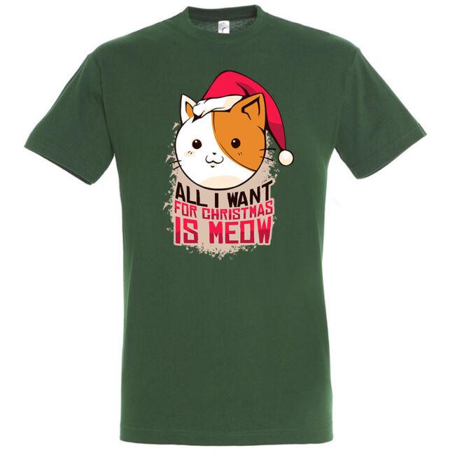 Meow Christmas póló, több színben