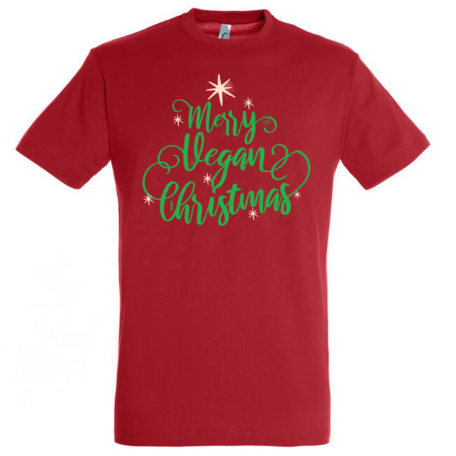 Vegan Christmas póló, több színben