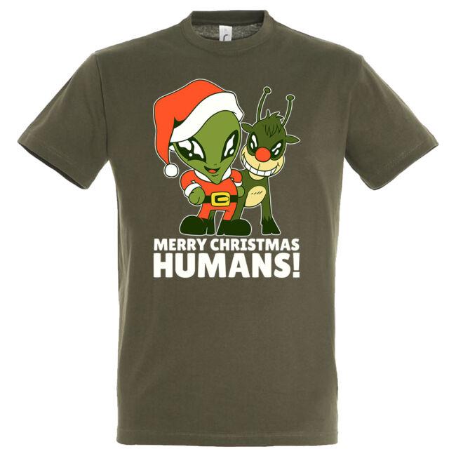 Alien merry Christmas póló, több színben
