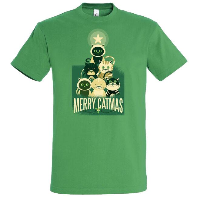 Merry Catmass póló több színben