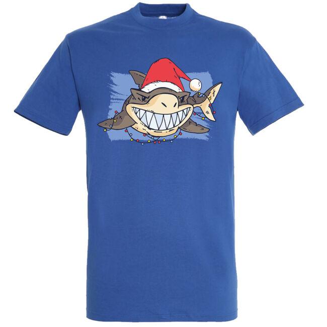 Santa Shark póló több színben