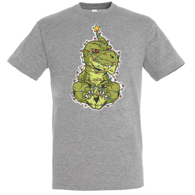 T-Rex karácsonyfa póló több színben