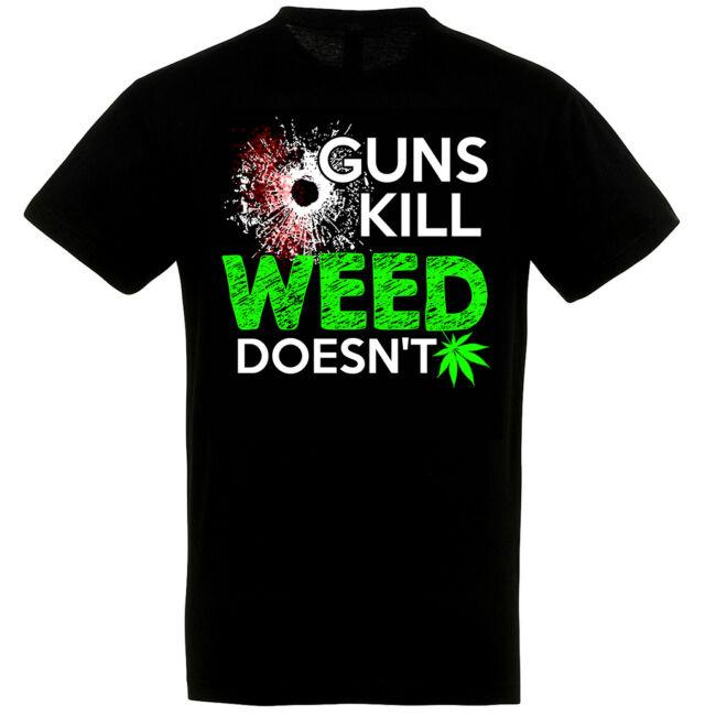 A fű nem gyilkol póló fekete színben