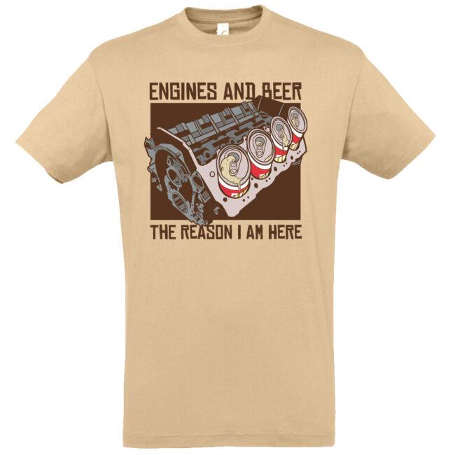 Engines and beer póló több színben