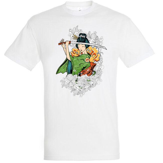 Samurai geisha póló több színben