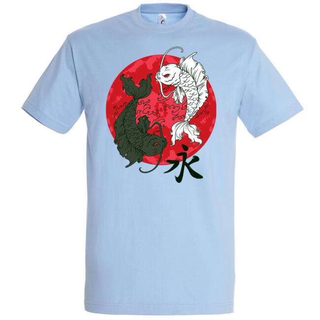 Jin-jang halak póló több színben