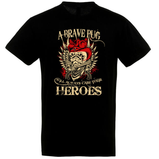 Brave pug heroes póló több színben